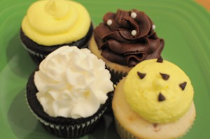 Bumble Bee Themed Baby Shower Cupcakes