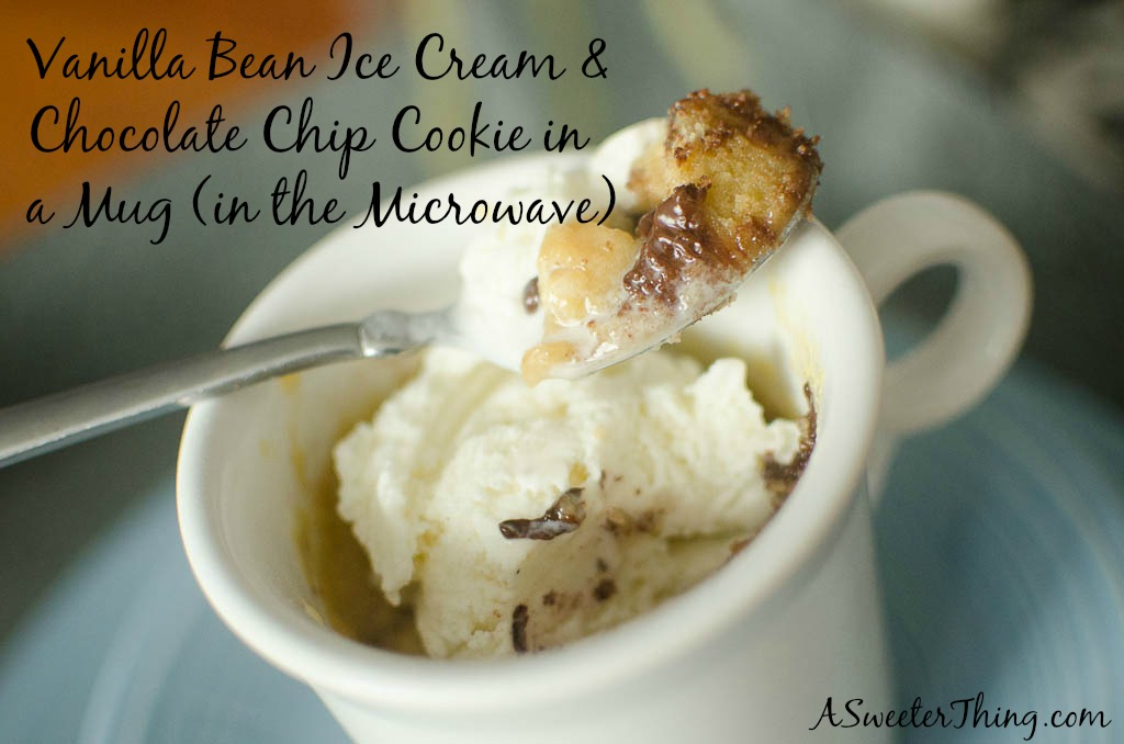 Vanilla Bean Ice Cream & Cookie in a Mug